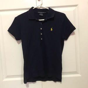 Navy Blue Polo Ralph Lauren Collared T Shirt 🖤